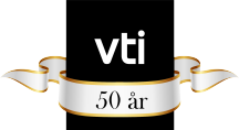 VTI 50 år jubileums logotype.
