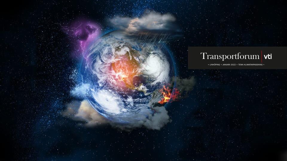 Satelltibild över jorden med illustrerade väderfenomen runt klotet.